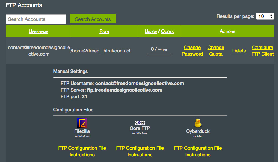 cyberduck configuration file from hostmonster ftp panel